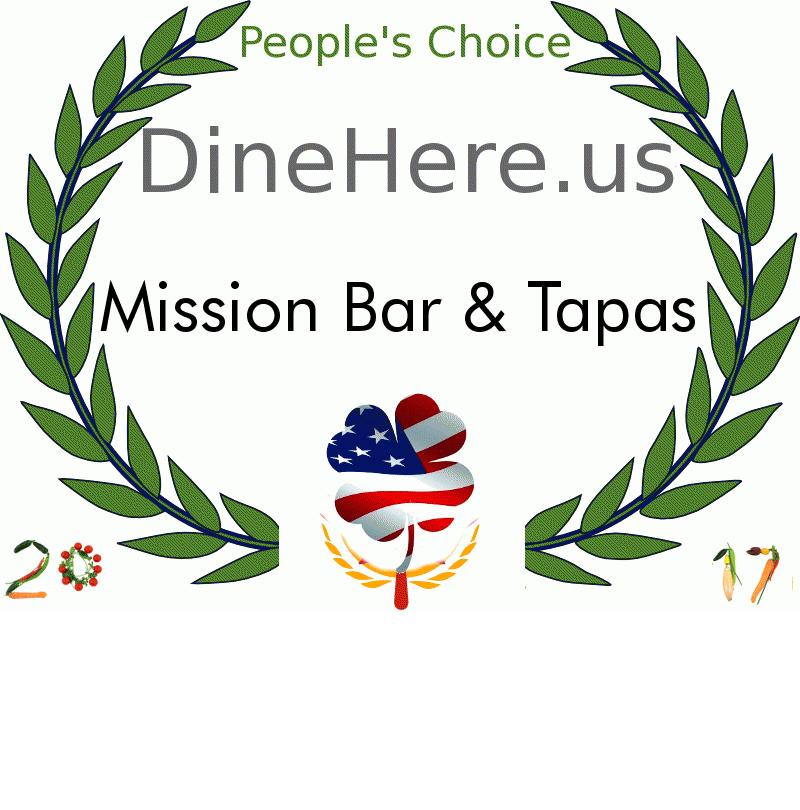 Mission Bar & Tapas DineHere.us 2017 Award Winner